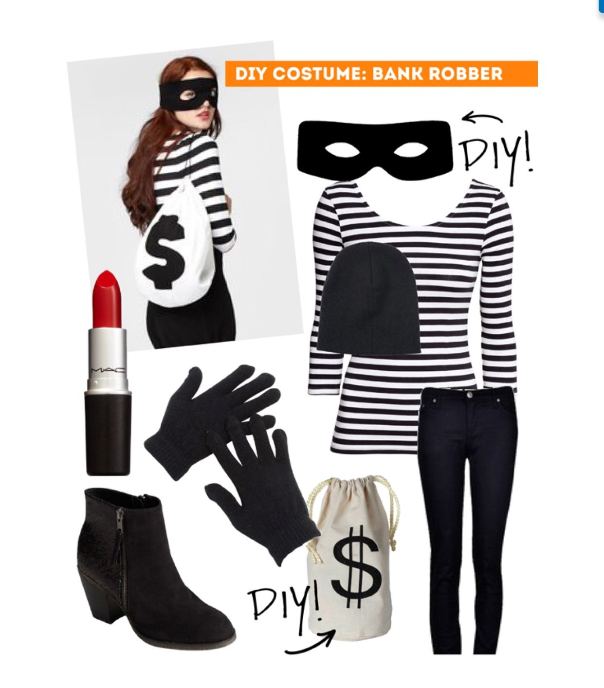 Diy Bank Robber Shirt Diy Bank Robber Costume Individual Or Couple Thesweetescape Ca