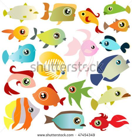 cartoon fish set by Rocket400 Studio, via Shutterstock
