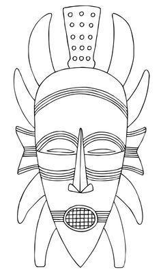 Épinglé par Eliane David sur Africa | Masques africains, Coloriage masque, Afrique art