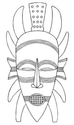 Kleurplaten Maskers Afrika.Afbeeldingsresultaat Voor Afrikaanse Maskers Kleurplaten Doe Het