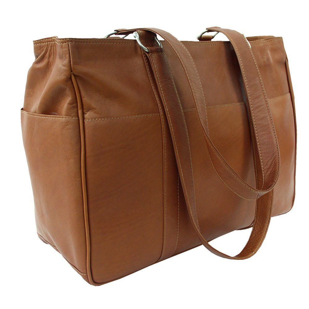 Saddle Piel Leather Medium Buckle Handbag One Size