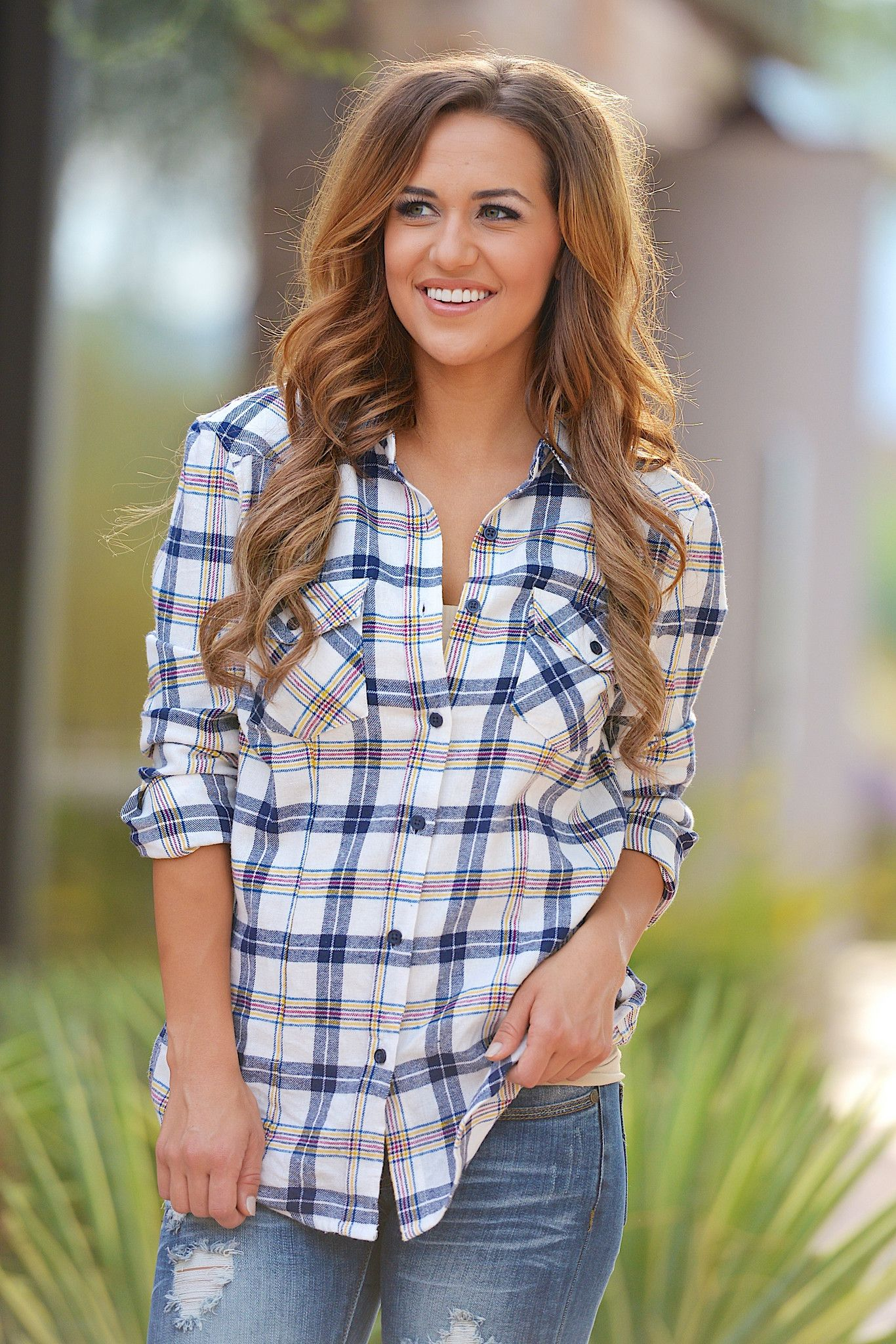Ripped jeans flannel shirt  Use discount code repbrandi for  off plus free shipping Like my