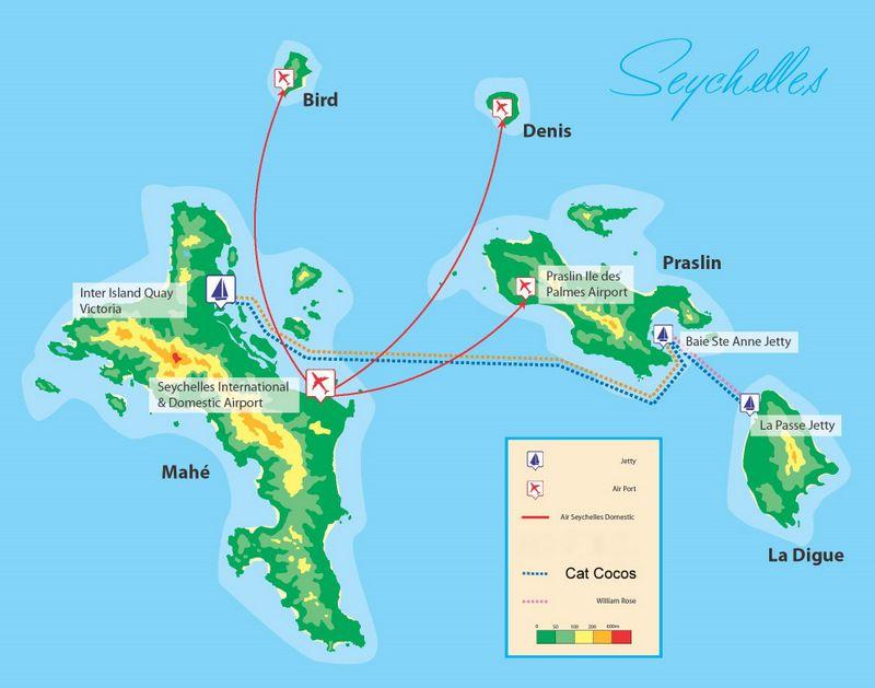 Voila La Carte De Seychelles Ils Sont Des Iles A Cote De L