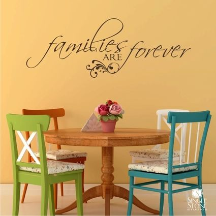 Families are Forever - wall decal www.singlestonestudios.com   Wall ...