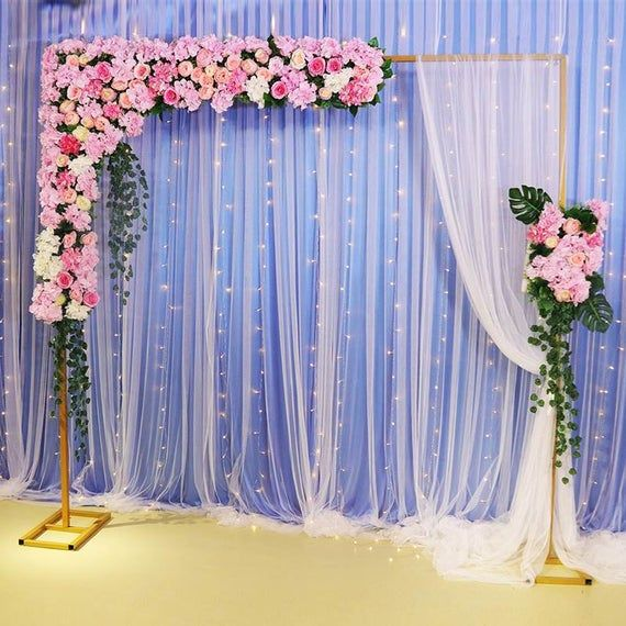 Wedding arch/party backdrop/wedding backdrop/wedding stage/rectangular arch/adjustable gold white backdrop stand/flower arch