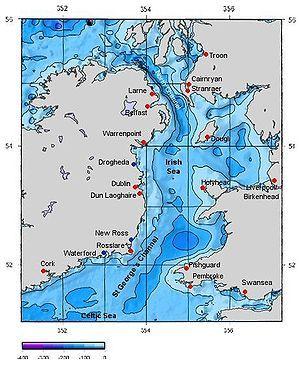 Map Of The Irish Sea Republic Of Ireland Irish Irish Sea Ireland