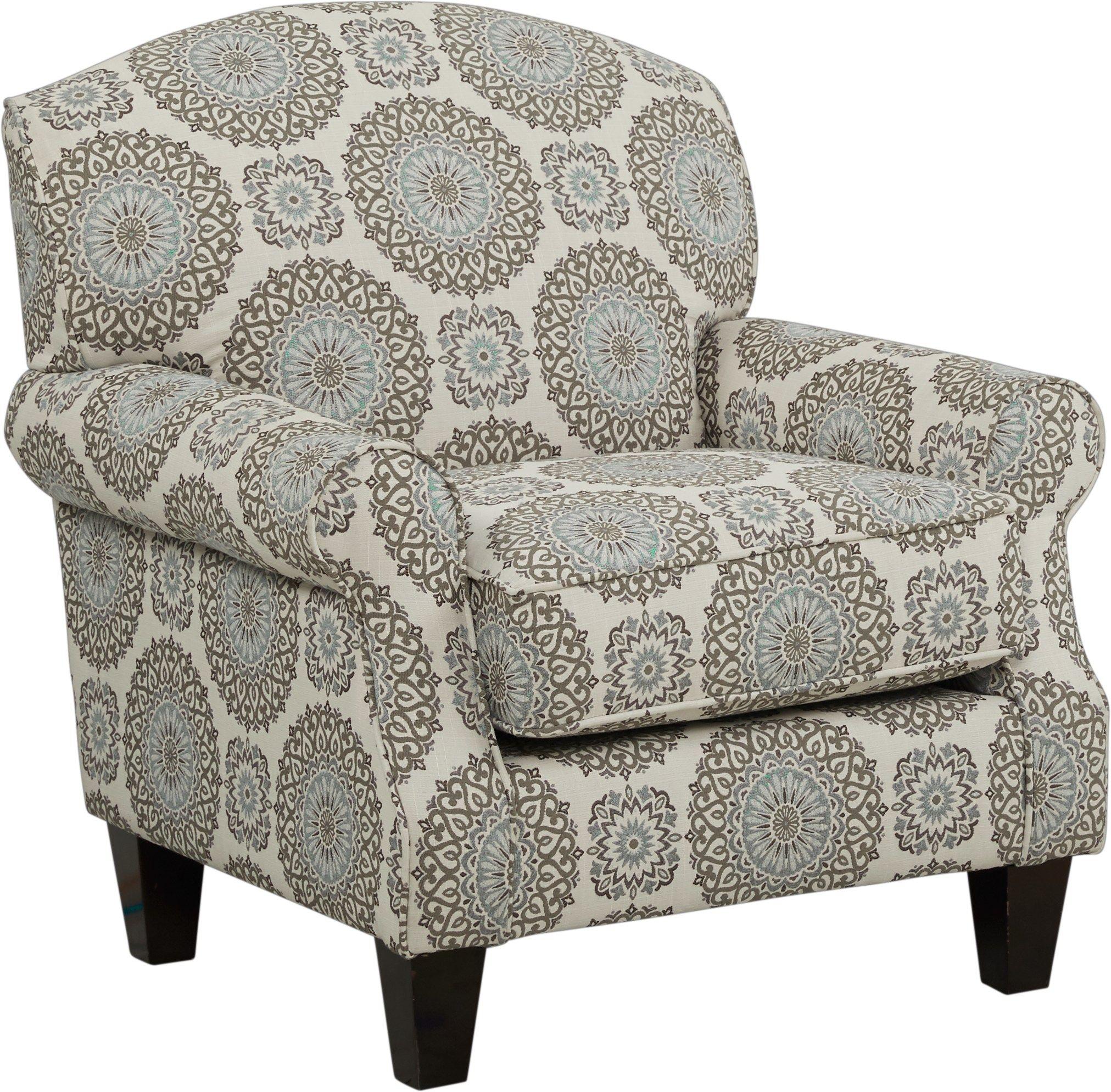 Best Pennington Blue Medallion Accent Chair Fabric Accent 400 x 300