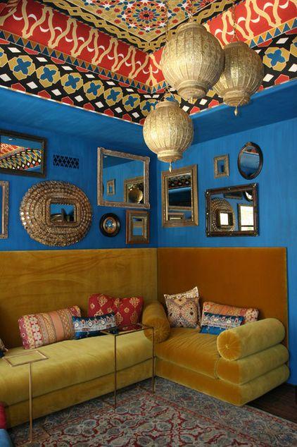 Charming India Inspired Modern Living Room Design