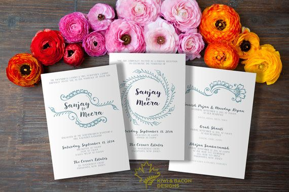 Indian Wedding Invitation Card Suite Sweet Henna By