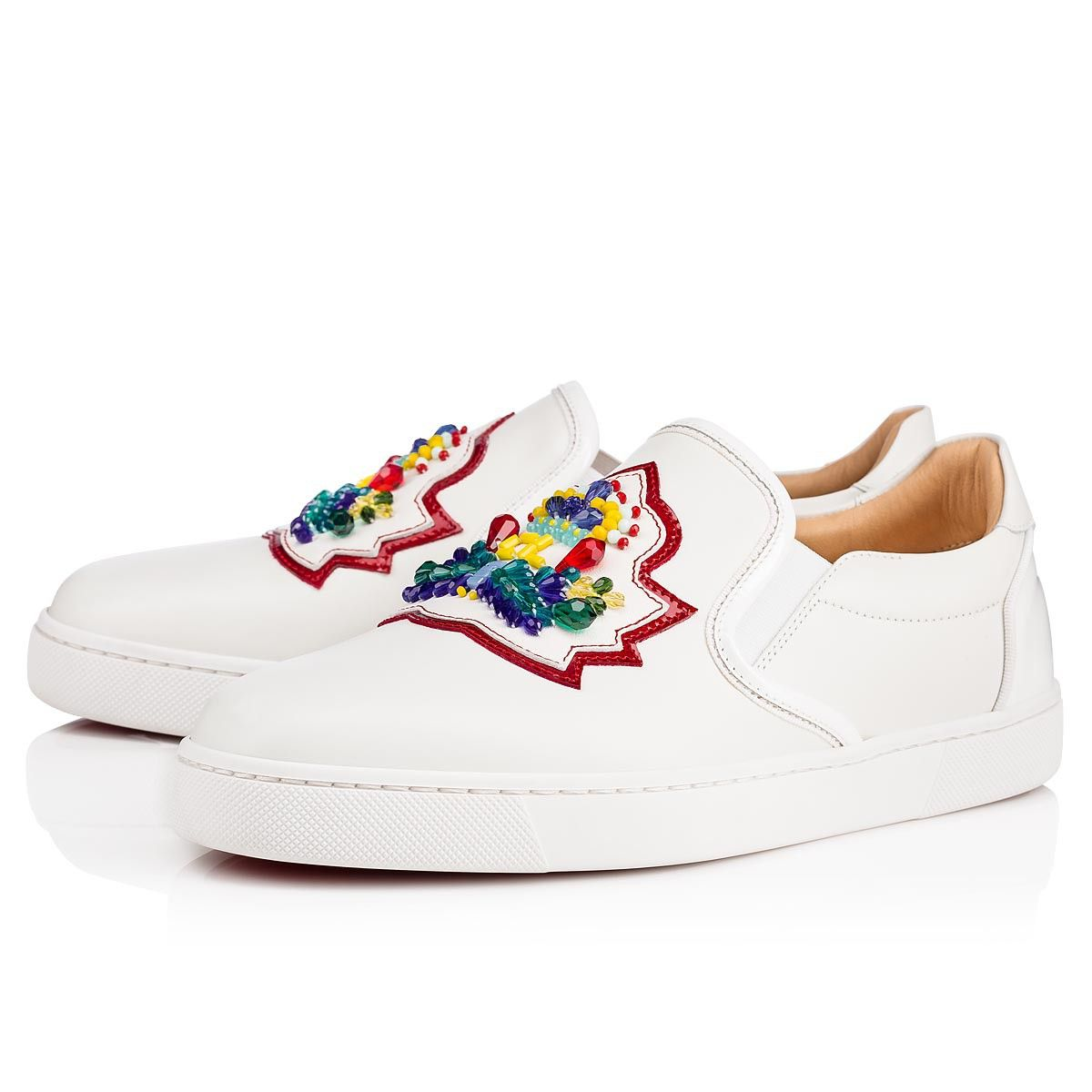 8489aa7e4b1d Christian Louboutin United States Official Online Boutique - Masterlogo  Flat Latte Leather available online. Discover