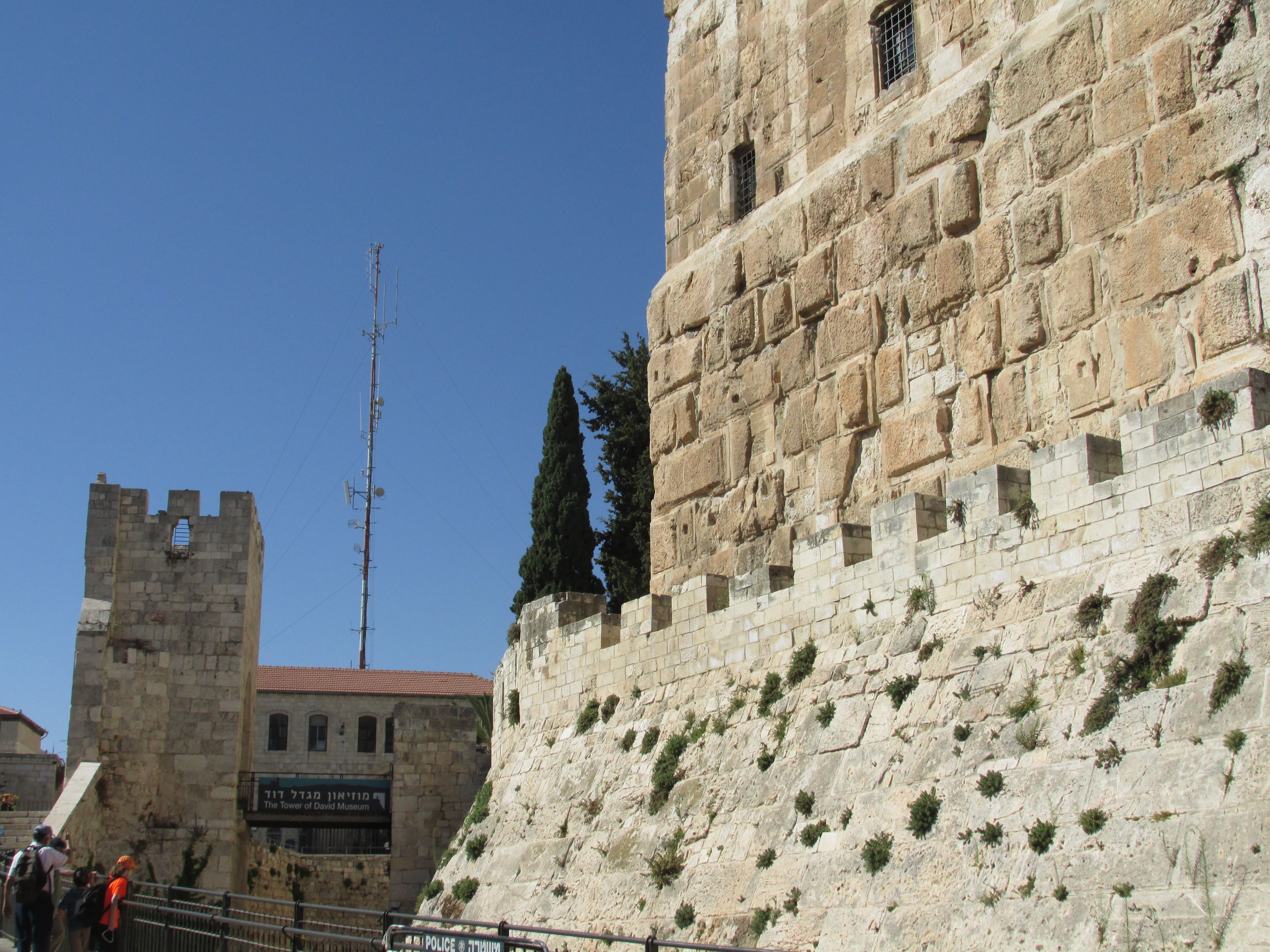 Walls in the old city, Jerusalem