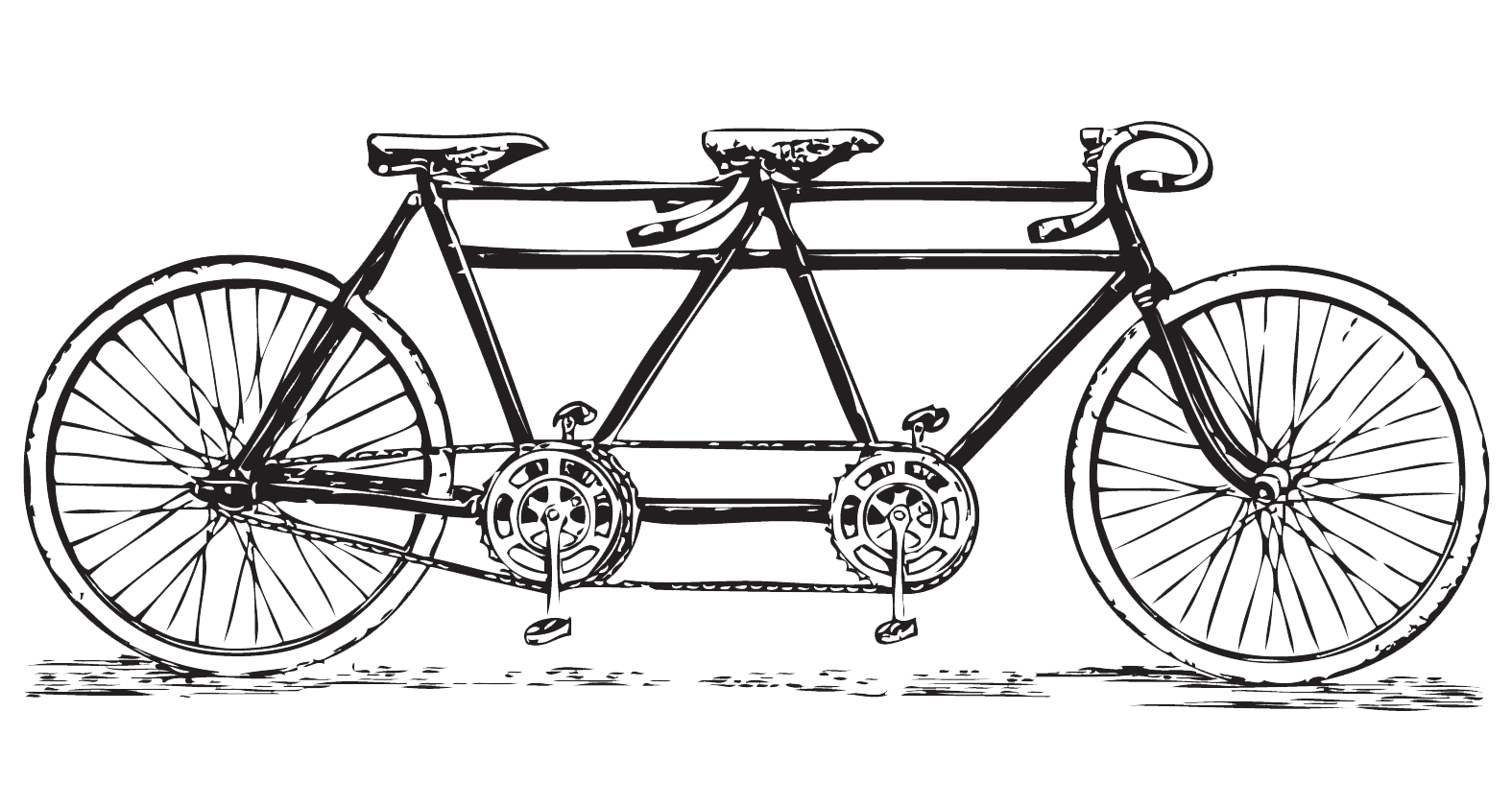 Free Vintage Tandem Bicycle Clip Art Bicycle Built For 2 Free