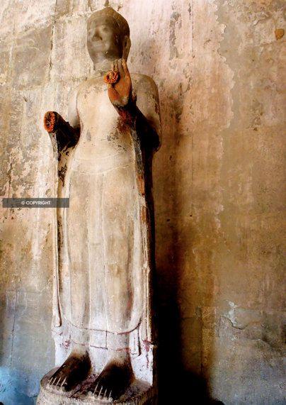 Ancient Stone Buddha Statue Photograph by ROXANNAPHOTOGRAPHY, $20.00