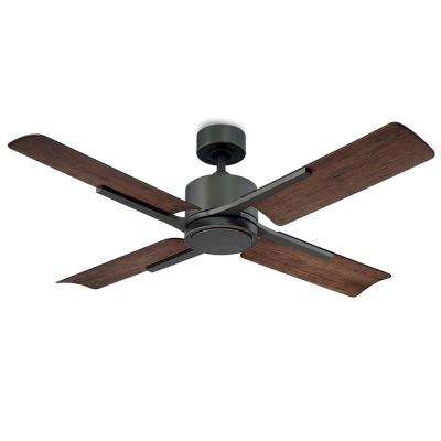 Cervantes 56 In 4 Blade Indoor And Outdoor Smart Ceiling Fan In Oil Rubbed Bronze With 3000k Li Ceiling Fan Ceiling Fan With Light Ceiling Fans Without Lights