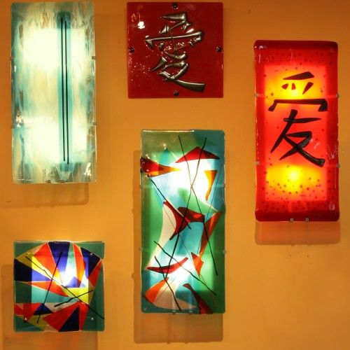 Finest bskdesign-fused-glass-lighting-04 These wall sconce kits are from  MH56