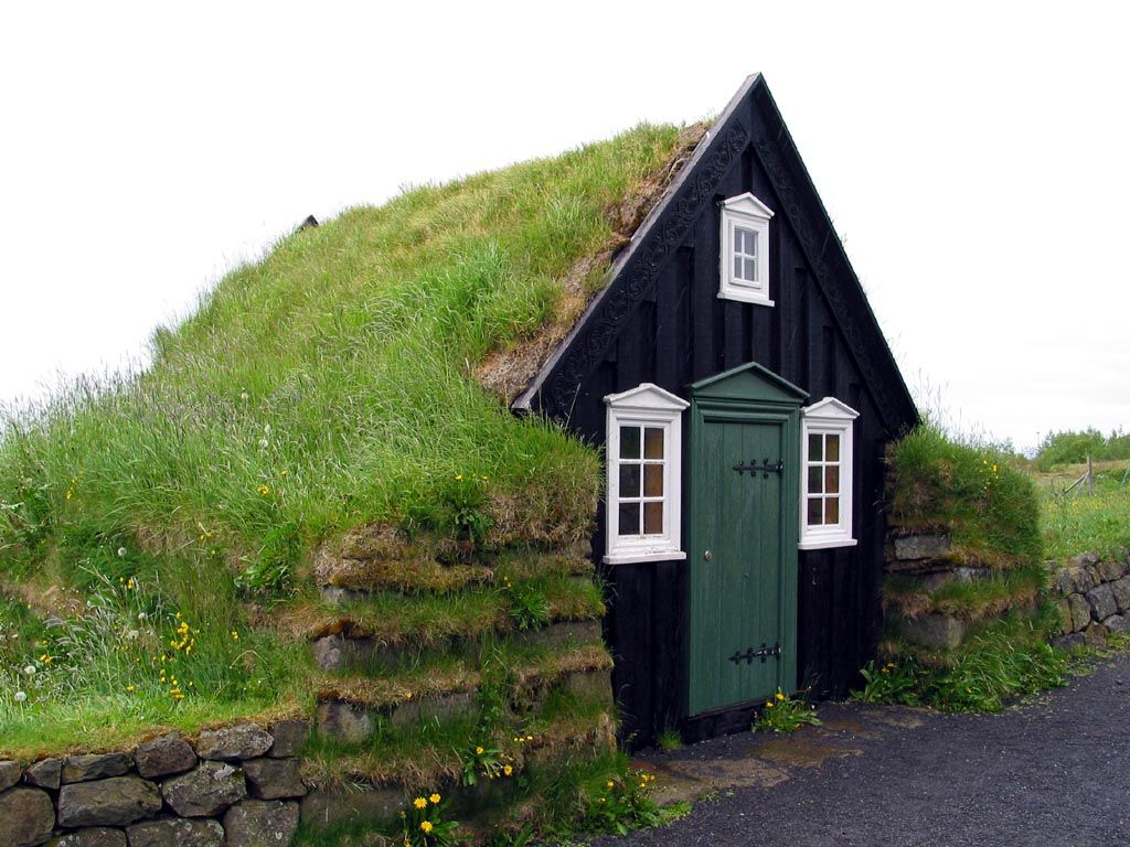 Old Turf House In Iceland Cabins In Iceland Pinterest