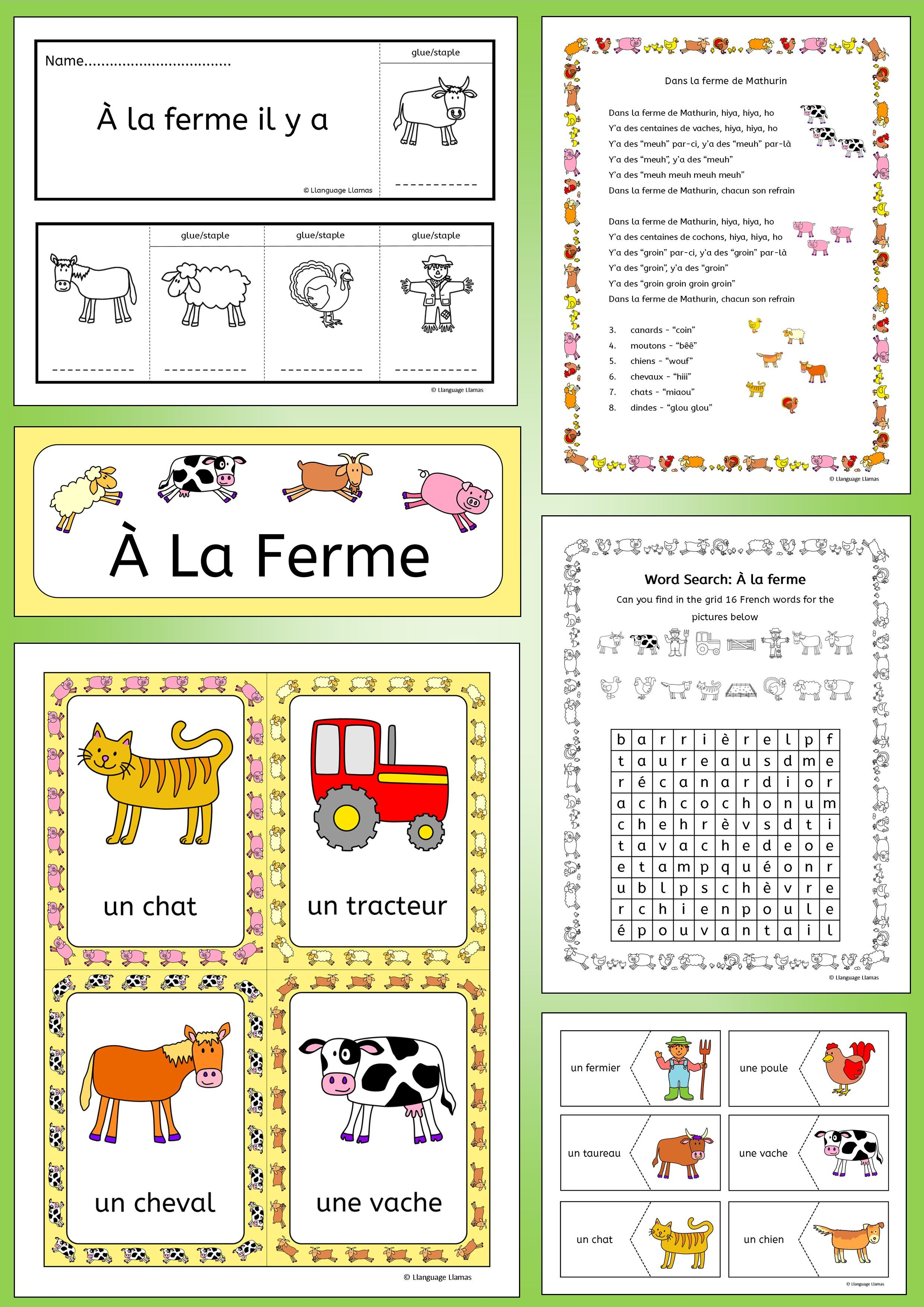 French Farm And Farm Animals Vocabulary