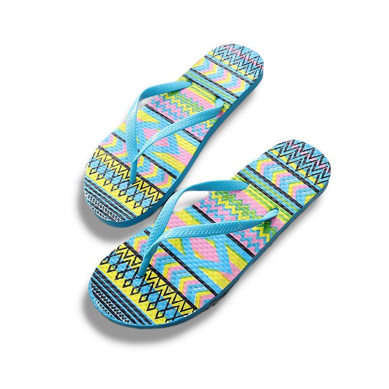Nautical Pattern Mens Summer V Flip Flops Thong Sandal Beach Slipper Beach Shoes