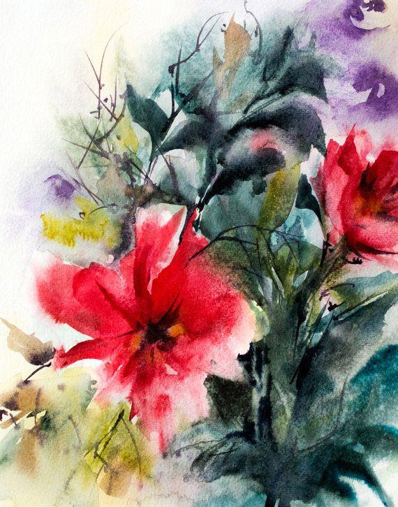 Astratto floreale stampa artistica stampa di CanotStopPrints