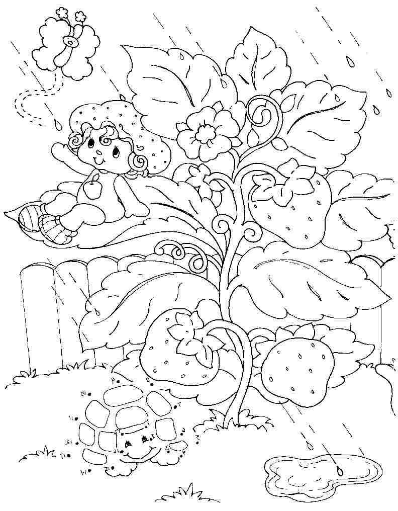 colouring pages coloring pages cartoon strawberry shortcake apple