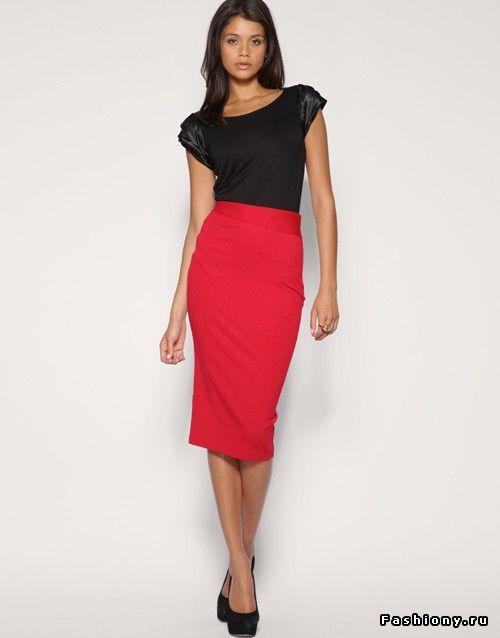 Деталь гардероба - юбка-карандаш / юбка с высокой талией ...