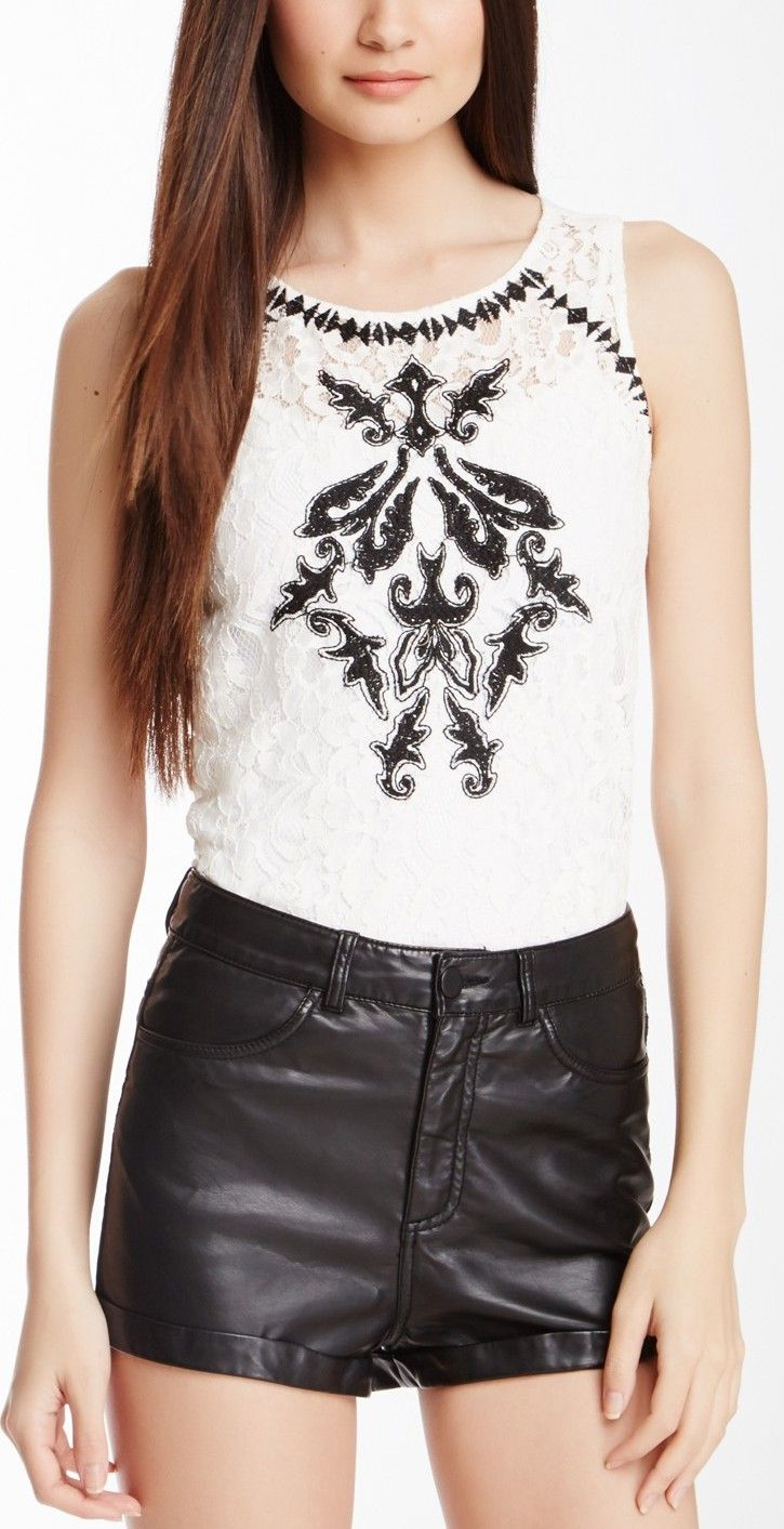 R & J Couture Lace Tank