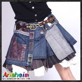 Rakuten: Skirt | Miniskirt | Trapezoid skirt | Multi-layer denim miniskirt -AKN06716- Shopping Japanese products from Japan