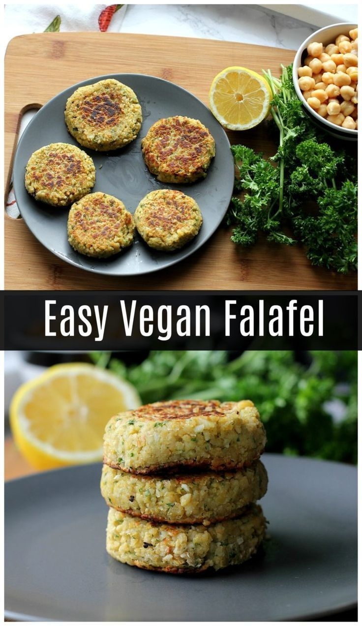Photo of This easy vegan falafel is made with canned chickpeas so it …
