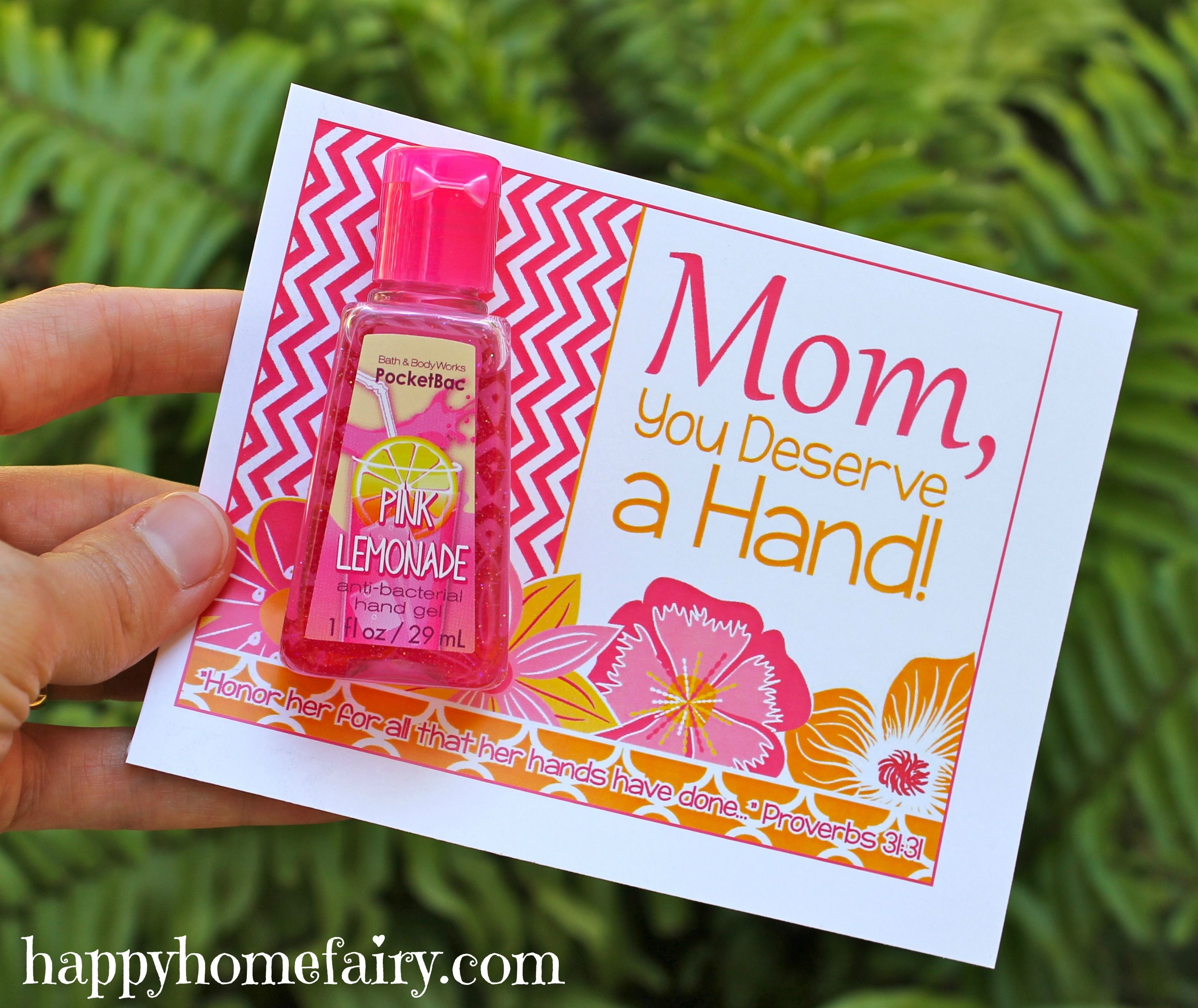 easy mother's day gift idea - free printable | mops ideas
