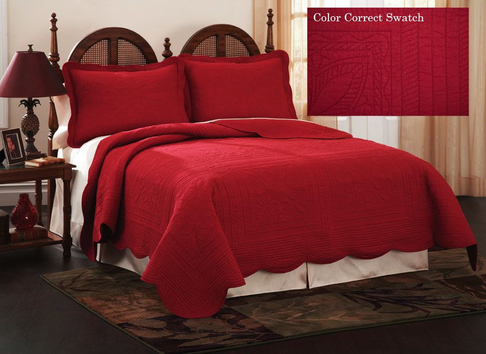 Red Quilted Bedspreads | Quilts, Quilted Bedspread Dusty Blue ... : french quilted bed covers - Adamdwight.com