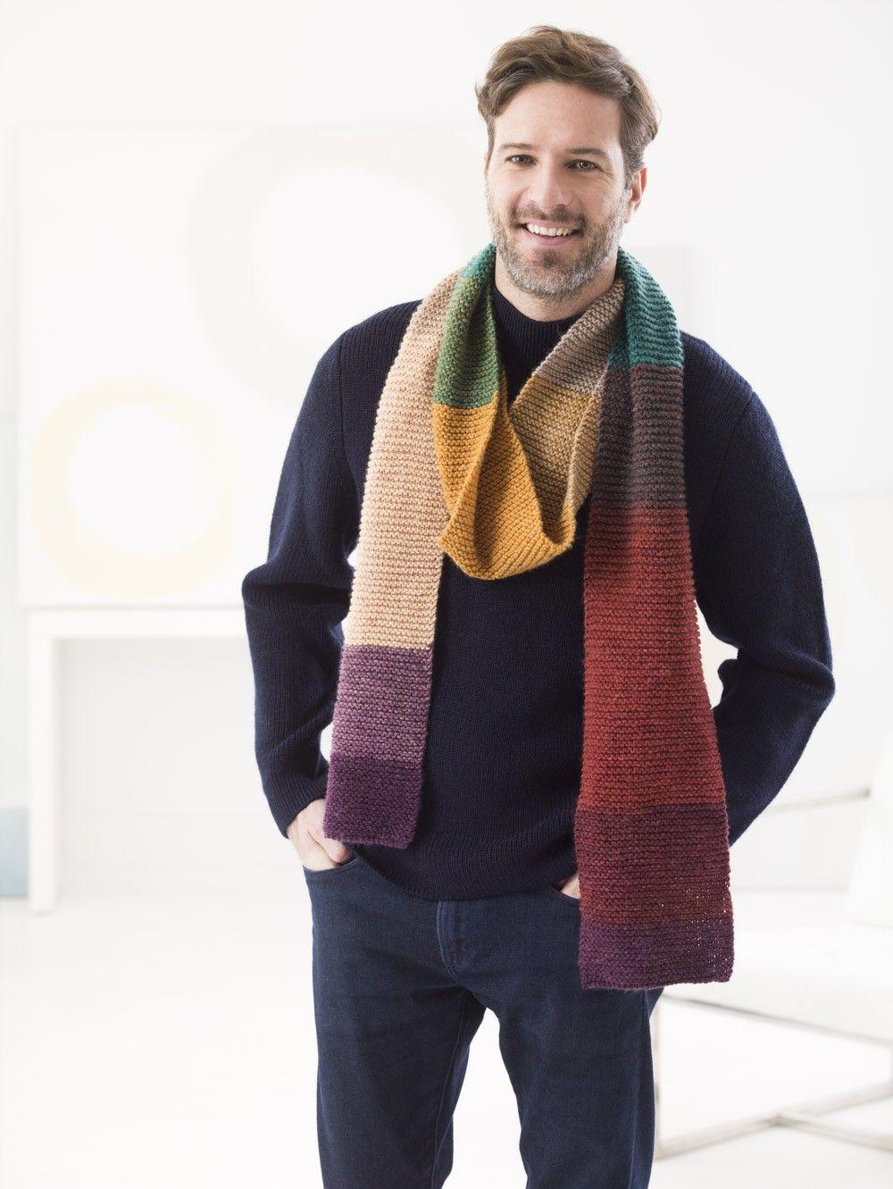 Morton Street Scarf (Knit) - Patterns - Lion Brand Yarn | fashion ...