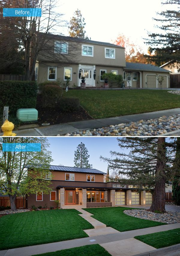 Modern Exterior Home Design Ideas Remodels Photos: Before And After: Old House Turns Into A Kid-Friendly Modern Home