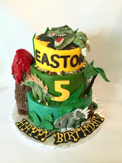 T Rex dinosaur cake dinosaurs jurassic themed cake Childrens