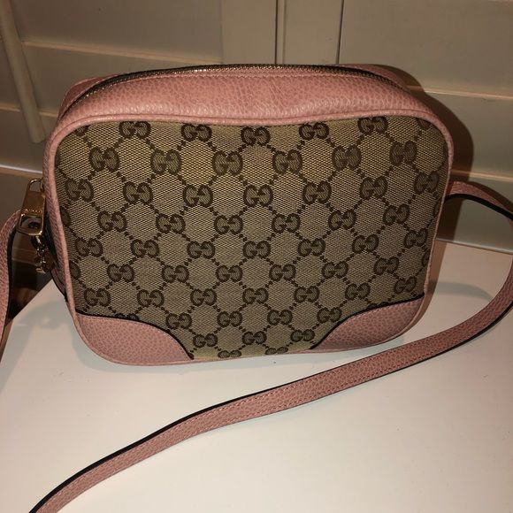 5ba553edfaf29d Gucci Pink GG Canvas & Leather Bree Crossbody Authentic. Like new! Gucci  Bags Crossbody