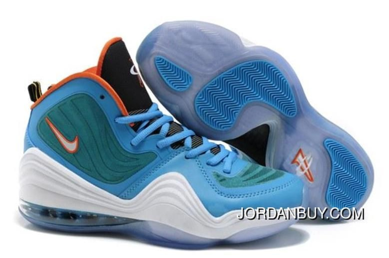 2015 For Sale Air Penny Hardaway 5 V Mens Shoes Discount Blue White Orange