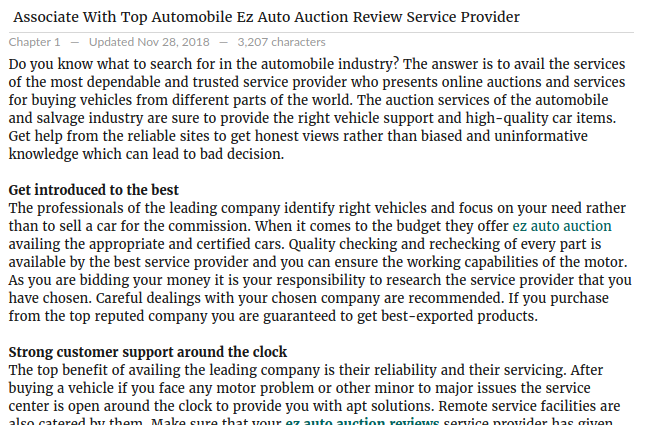 Make Sure That Your Ez Auto Auction Reviews Service Provider Has