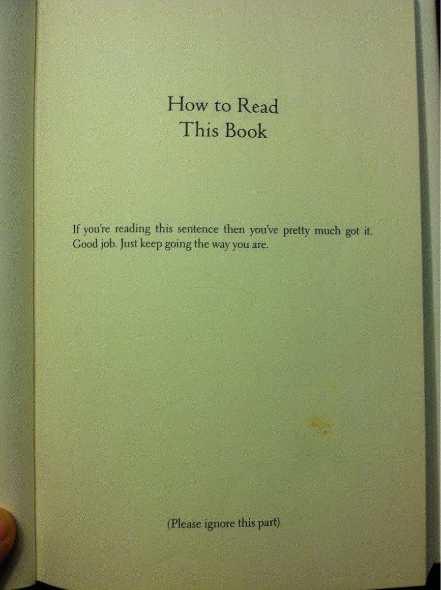 Wie man ein Buch liest.