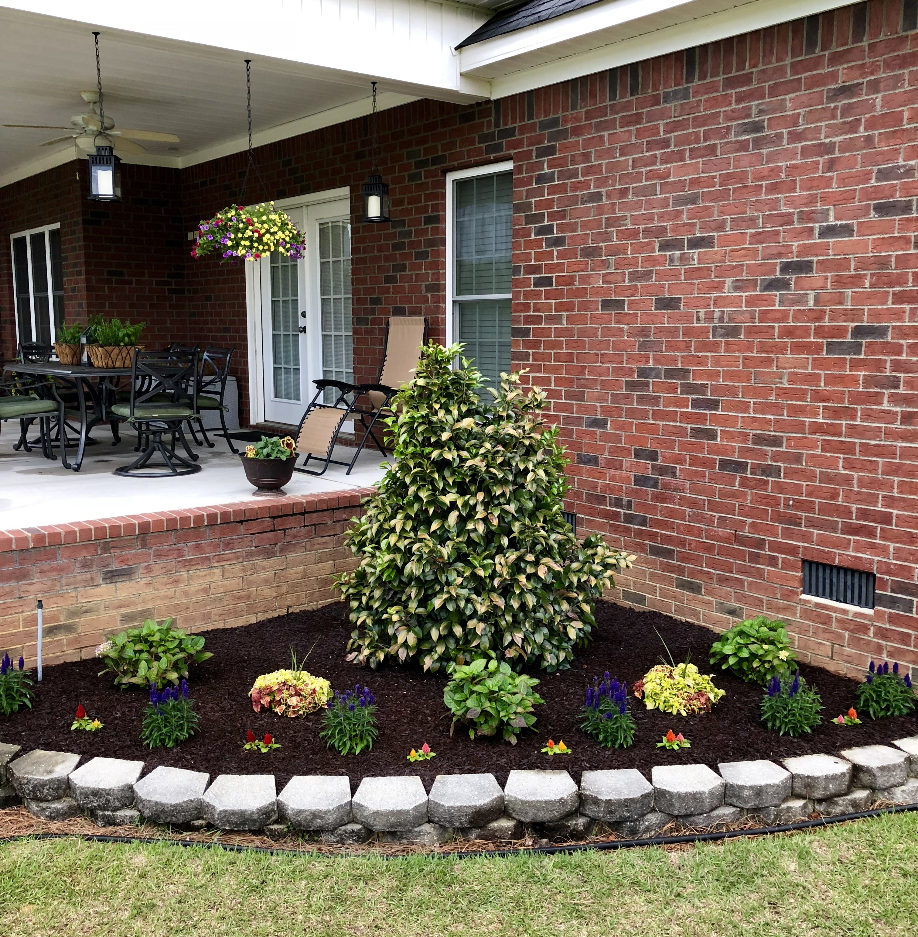 The most recent project I did on my back porch. Redesigned