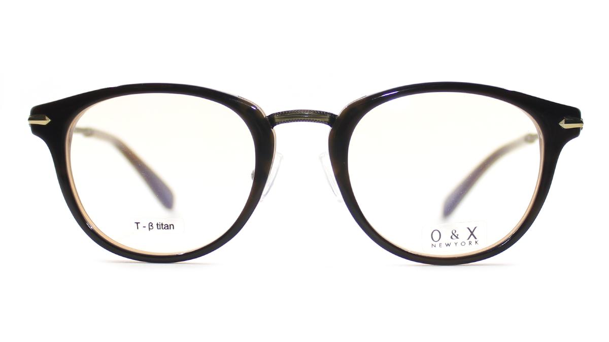 O & X OP-218A: BROWN ☆ Round ☆ Full Frame ☆ BETA TITANIUM ...
