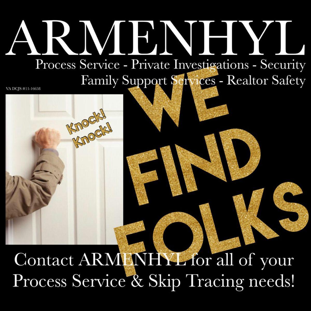 Armenhyl process service for harrisonburg virginia