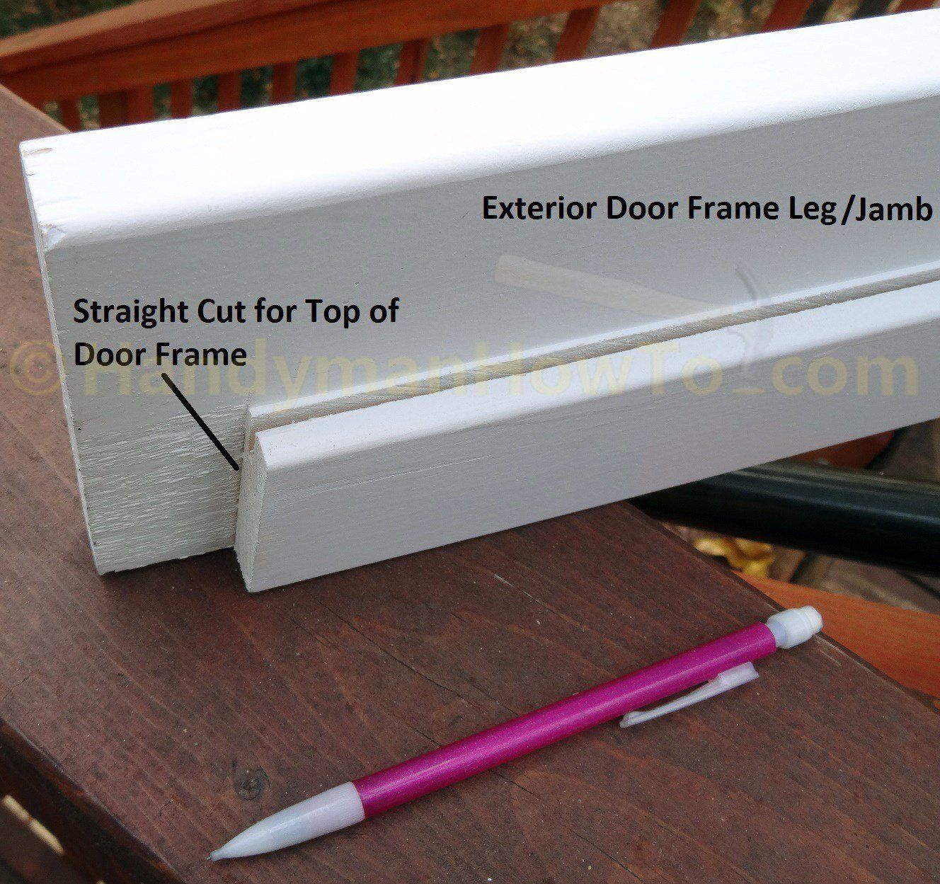 Exterior Door Frame Leg Top End With Images Exterior Door Frame Door Frame Repair Door Frame