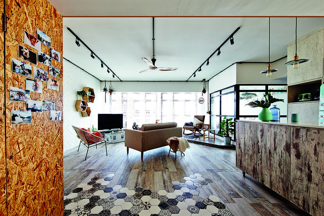 Eclectic And Funky Interiors In This Three Bedroom Hdb Flat