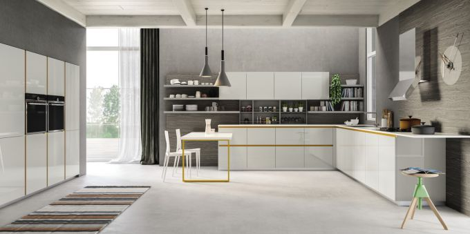 cucine su misura #cucine moderne #cucine con la gola #cucina ...