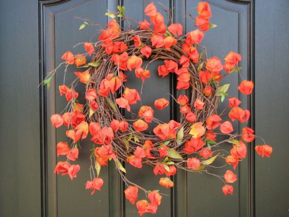 Totally In Love With Chinese Lanterns Yellow Wreath Orange