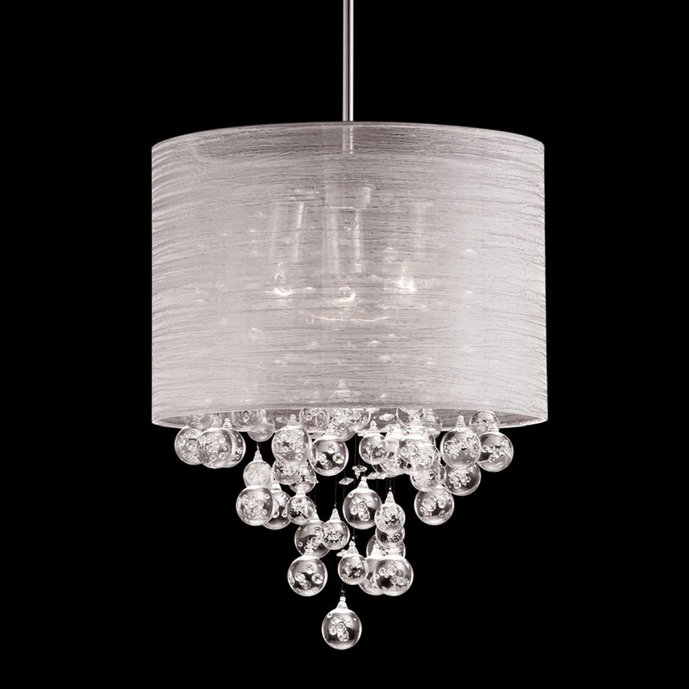 New 3 Lamp Drum Shade Chandelier Teardrop Crystal Pendant Ceiling Lamp D15 Pendant Ceiling Lamp Silver Pendant Lamp Drum Shade Chandelier