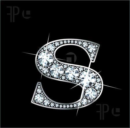 B Letter In Diamond Illustration of A stun...