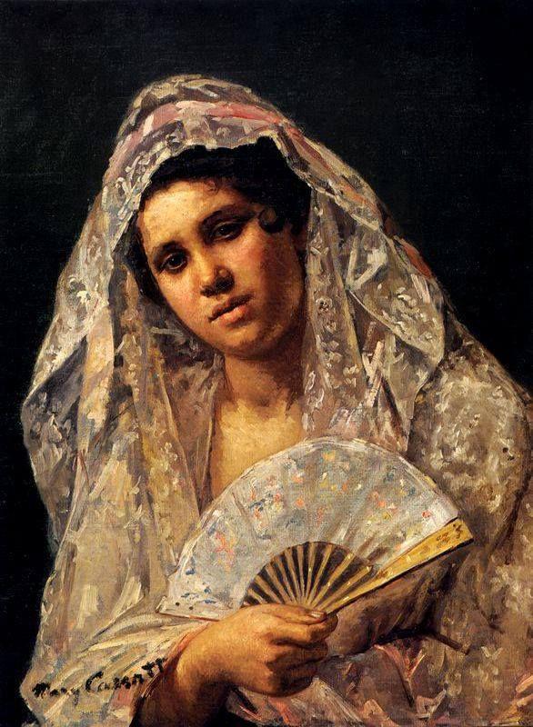 Spanish Dancer Wearing a Lace Mantilla (1873)