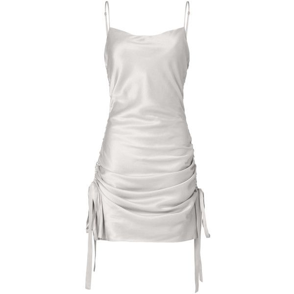 Zimmermann Ruched Slip Mini Dress ($395) ❤ liked on Polyvore ...