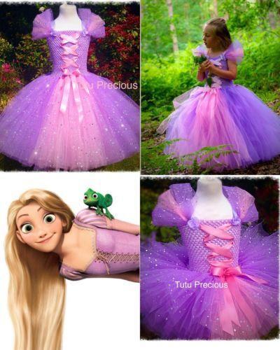 disney inspired tangled princess rapunzel tutu dress. Black Bedroom Furniture Sets. Home Design Ideas