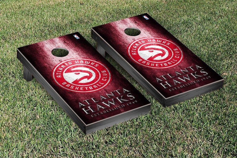 Rustic Metal Style Atlanta Hawks Bag Toss Game